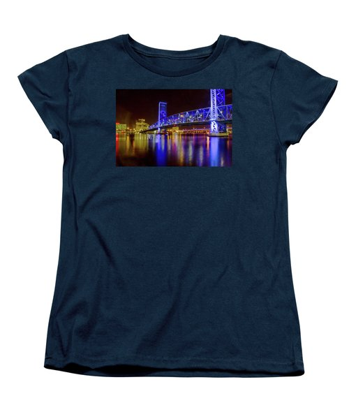 Women's T-Shirt (Standard Cut) featuring the photograph Blue Bridge 2 by Arthur Dodd