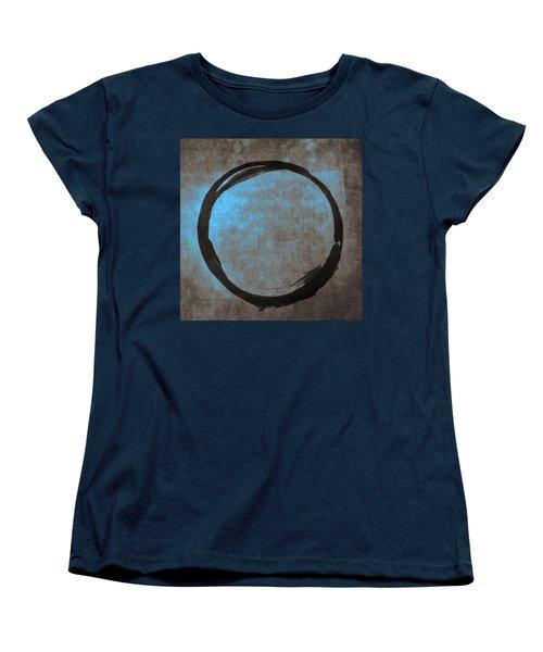 Blue Brown Enso Women's T-Shirt (Standard Cut) by Julie Niemela