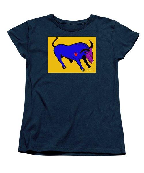 Blue Bull Women's T-Shirt (Standard Cut) by Hans Magden