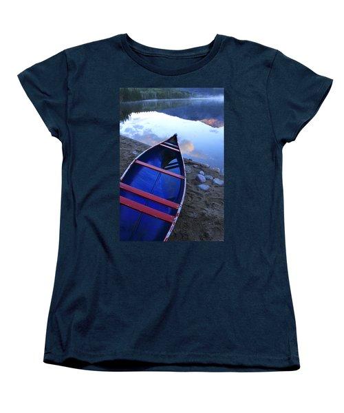 Blue Canoe Women's T-Shirt (Standard Cut) by Catherine Alfidi