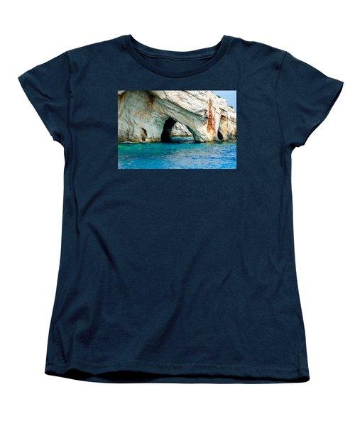 Blue Cave 4 Women's T-Shirt (Standard Cut) by Rainer Kersten