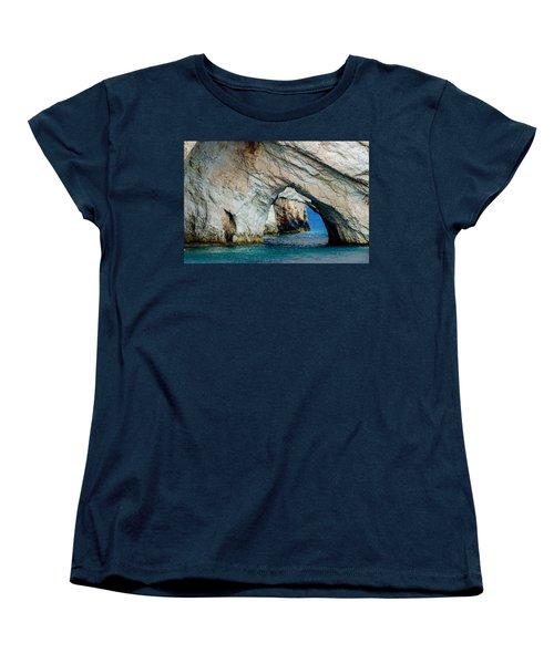 Blue Caves 1 Women's T-Shirt (Standard Cut) by Rainer Kersten
