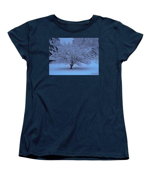 Women's T-Shirt (Standard Cut) featuring the photograph Blue Christmas by Betty Northcutt