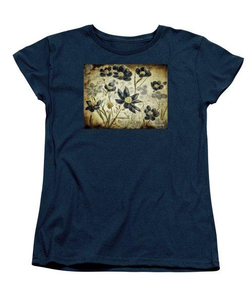 Blue Daisies Women's T-Shirt (Standard Cut) by Lois Bryan