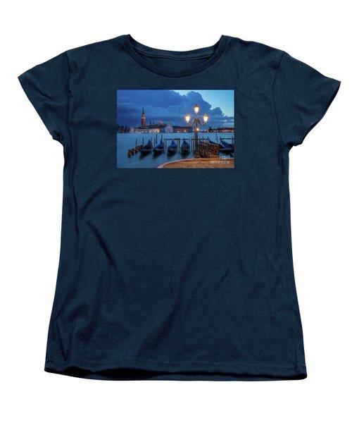 Women's T-Shirt (Standard Cut) featuring the photograph Blue Dawn Over Venice by Brian Jannsen