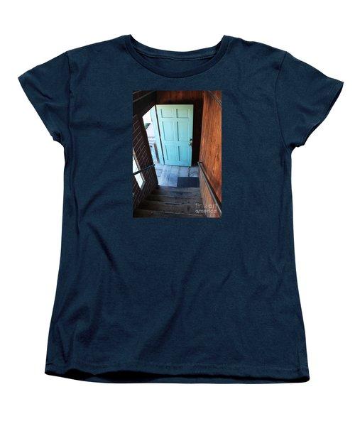 Women's T-Shirt (Standard Cut) featuring the photograph Blue Door by Cheryl Del Toro