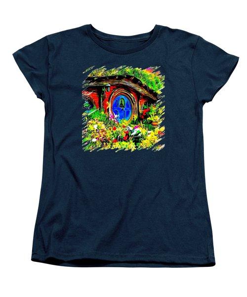 Blue Door Hobbit House-t Shirt Women's T-Shirt (Standard Cut) by Kathy Kelly