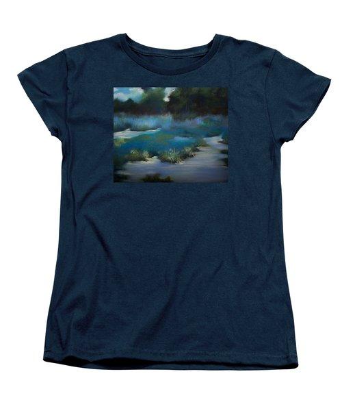 Blue Eden Women's T-Shirt (Standard Cut) by Marika Evanson