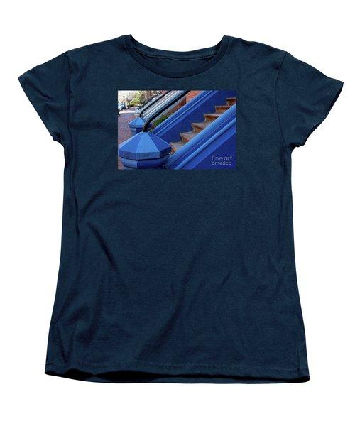 Blue Entry Women's T-Shirt (Standard Cut) by Jim Gillen