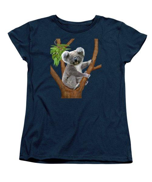 Blue-eyed Baby Koala Women's T-Shirt (Standard Cut) by Glenn Holbrook