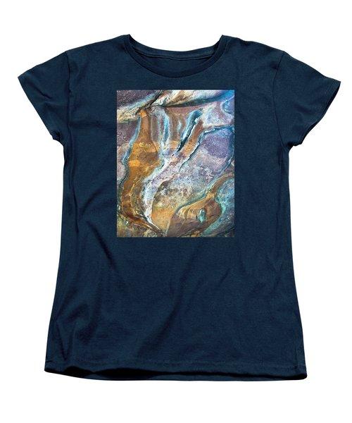 Women's T-Shirt (Standard Cut) featuring the photograph Blue Fantasy, Bhimbetka, 2016 by Hitendra SINKAR