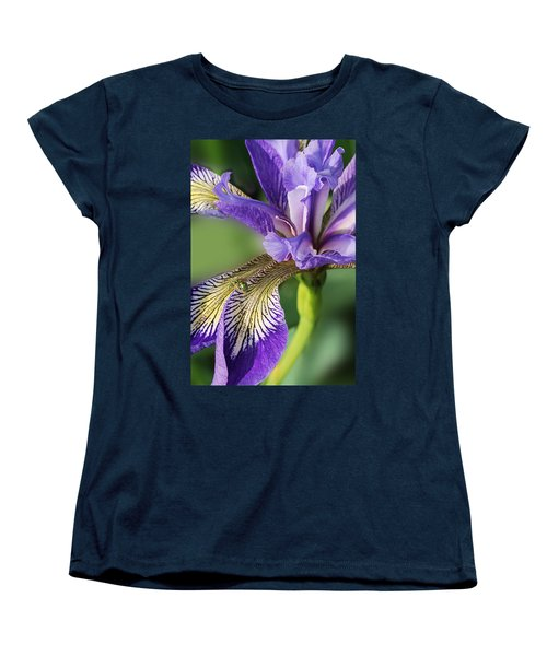 Women's T-Shirt (Standard Cut) featuring the photograph Blue Flag  by Susan Capuano