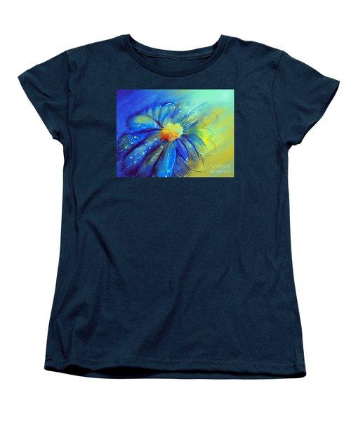 Blue Flower Offering Women's T-Shirt (Standard Cut) by Allison Ashton