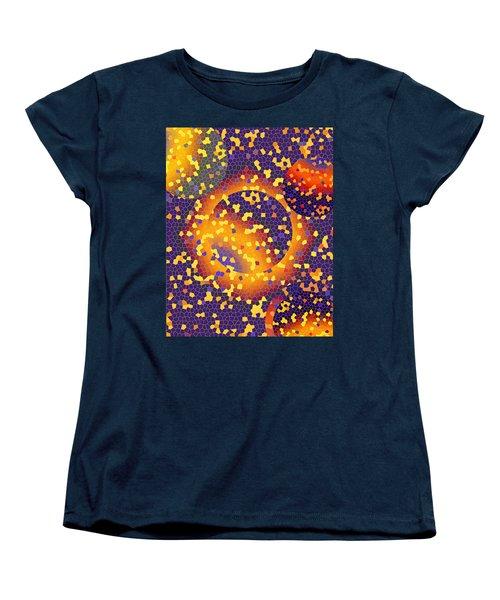 Women's T-Shirt (Standard Cut) featuring the digital art Blue Galaxy by Lynda Lehmann