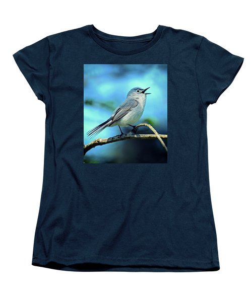 Blue-gray Gnatcatcher Women's T-Shirt (Standard Cut)