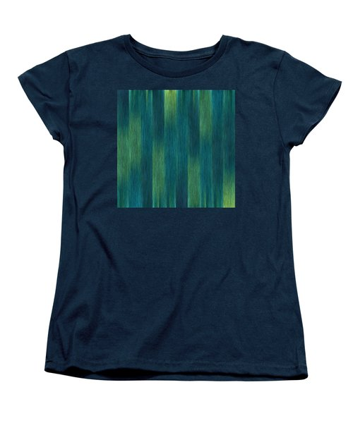 Blue Green Abstract 1 Women's T-Shirt (Standard Cut)