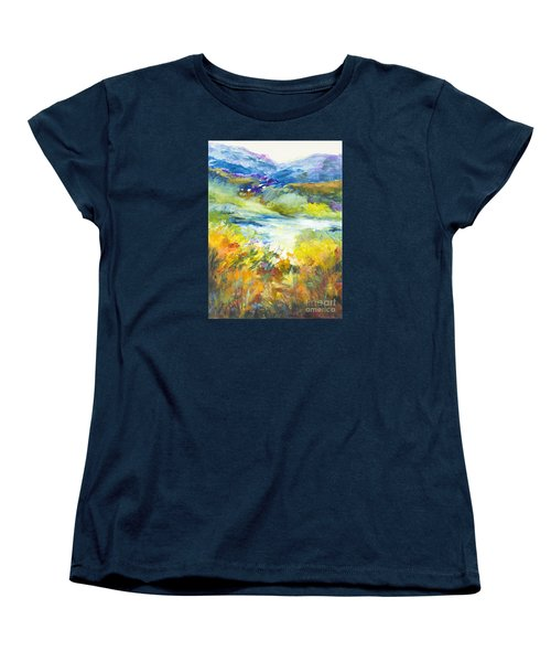 Blue Hills Women's T-Shirt (Standard Cut) by Glory Wood
