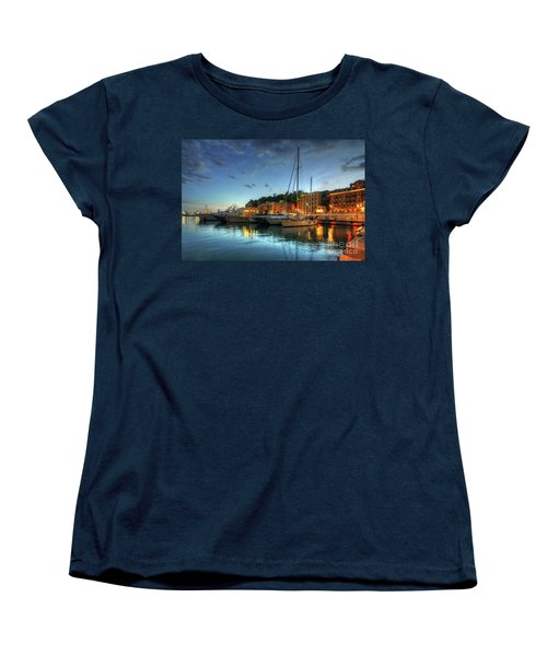 Women's T-Shirt (Standard Cut) featuring the photograph Blue Hour At Port Nice 2.0 by Yhun Suarez