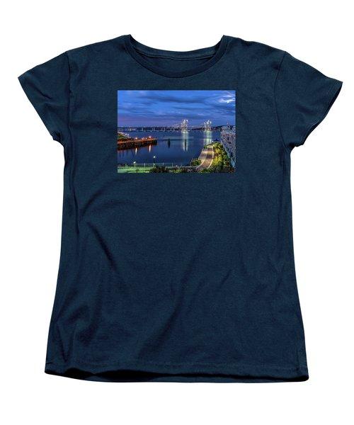 Blue Hour Over The Hudson Women's T-Shirt (Standard Cut) by Jeffrey Friedkin