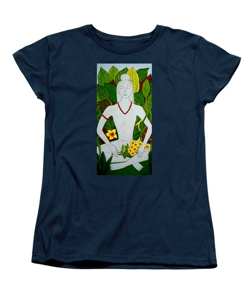 Women's T-Shirt (Standard Cut) featuring the painting Blue Idol by Stephanie Moore