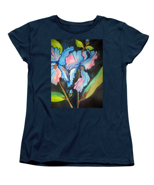Blue Iris Women's T-Shirt (Standard Cut) by Lil Taylor