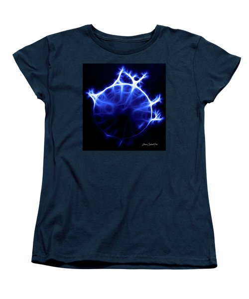 Blue Jelly Fish Women's T-Shirt (Standard Cut) by Joann Copeland-Paul