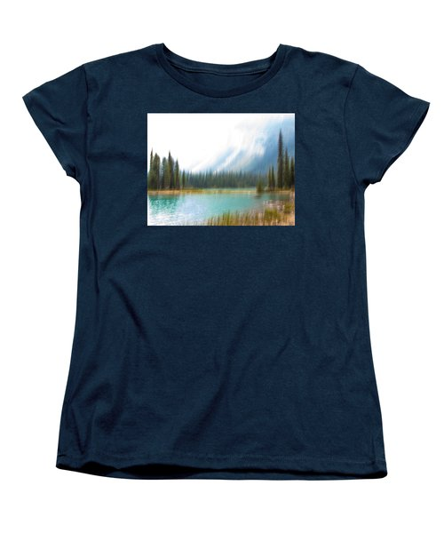 Blue Lake Women's T-Shirt (Standard Cut) by Catherine Alfidi