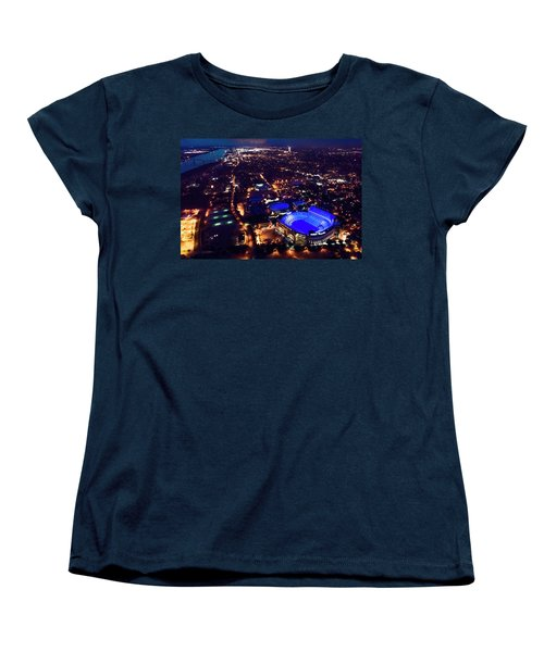 Blue Lsu Tiger Stadium Women's T-Shirt (Standard Cut) by Andy Crawford