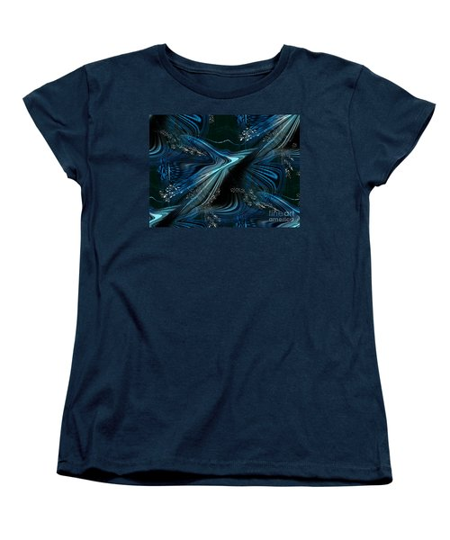 Women's T-Shirt (Standard Cut) featuring the digital art Blue Meditation by Yul Olaivar
