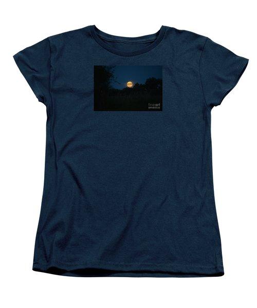 Blue Moon 2015 Women's T-Shirt (Standard Cut) by Mark McReynolds