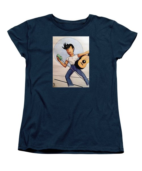 Blue Moon Women's T-Shirt (Standard Cut) by Loretta Nash