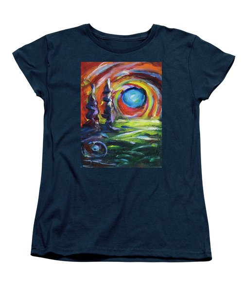 Blue Moon Women's T-Shirt (Standard Cut) by Yulia Kazansky