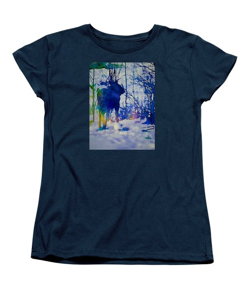 Blue Moose Women's T-Shirt (Standard Cut) by Jan Amiss Photography