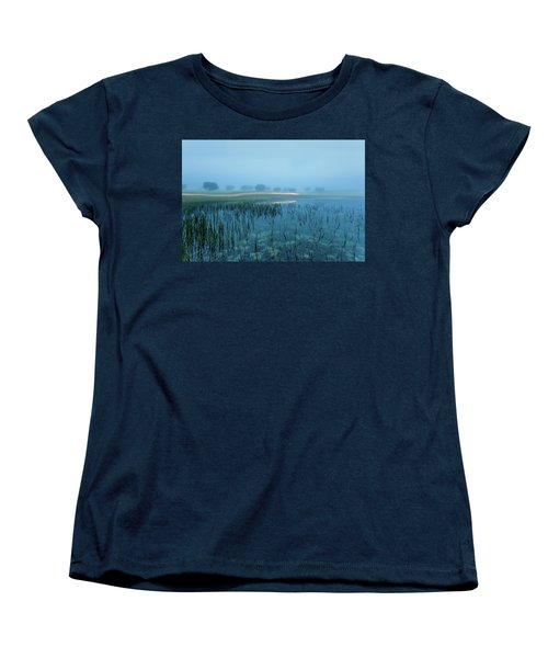Women's T-Shirt (Standard Cut) featuring the photograph Blue Morning Flash by Jorge Maia