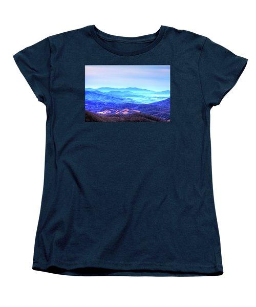 Blue Mountain Mist Women's T-Shirt (Standard Cut) by Dale R Carlson