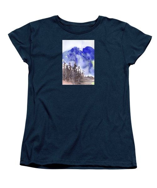 Blue Mountains Women's T-Shirt (Standard Cut) by Yolanda Koh