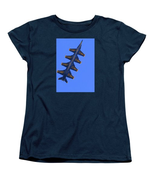 Blue On Blue Women's T-Shirt (Standard Cut)