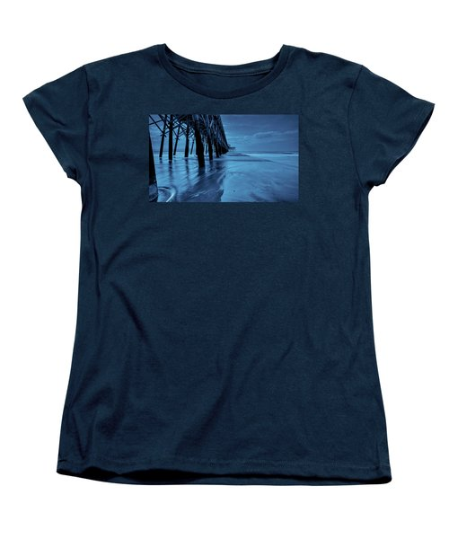 Blue Pier Women's T-Shirt (Standard Cut) by RC Pics