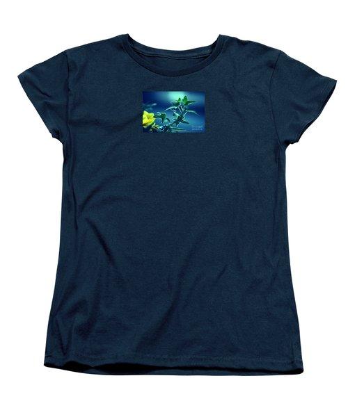 Women's T-Shirt (Standard Cut) featuring the photograph Blue Power  by Susanne Van Hulst