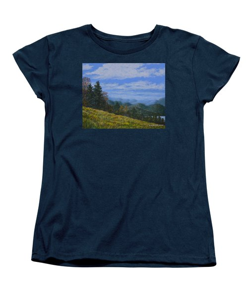Women's T-Shirt (Standard Cut) featuring the painting Blue Ridge Impression by Kathleen McDermott