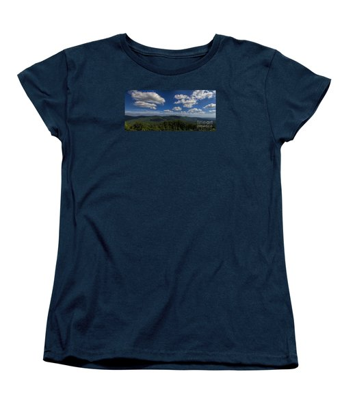 Women's T-Shirt (Standard Cut) featuring the photograph Blue Ridge Mountains by Barbara Bowen