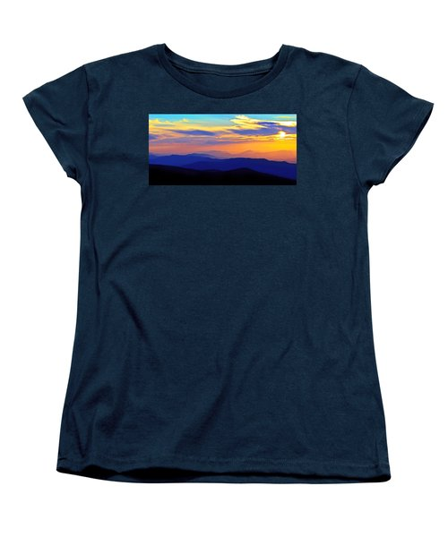 Blue Ridge Sunset, Virginia Women's T-Shirt (Standard Cut) by The American Shutterbug Society