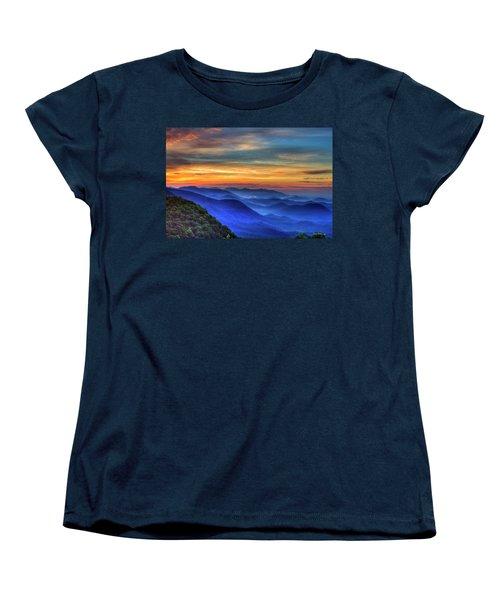Women's T-Shirt (Standard Cut) featuring the photograph Blue Ridges 2 Pretty Place Chapel View Great Smoky Mountains Art by Reid Callaway