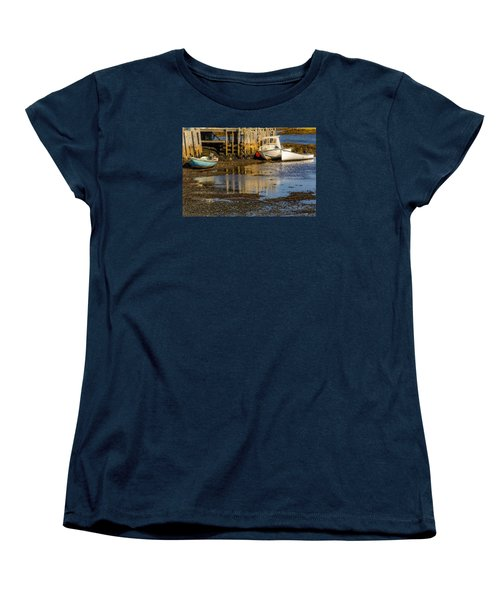 Blue Rocks, Nova Scotia Women's T-Shirt (Standard Cut) by Ken Morris