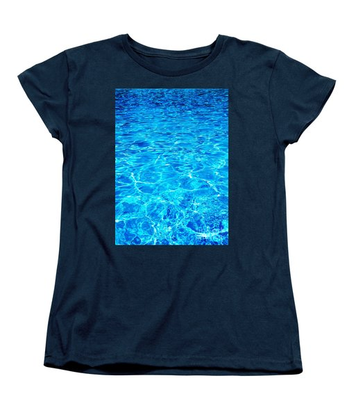 Women's T-Shirt (Standard Cut) featuring the photograph Blue Shadow by Ramona Matei
