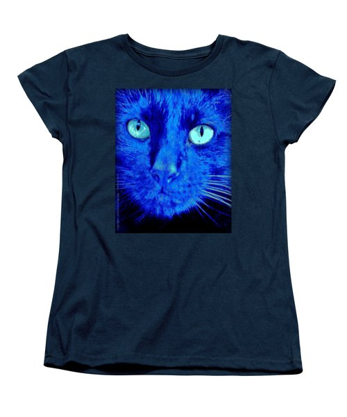 Women's T-Shirt (Standard Cut) featuring the photograph  Blue Shadows by Al Fritz