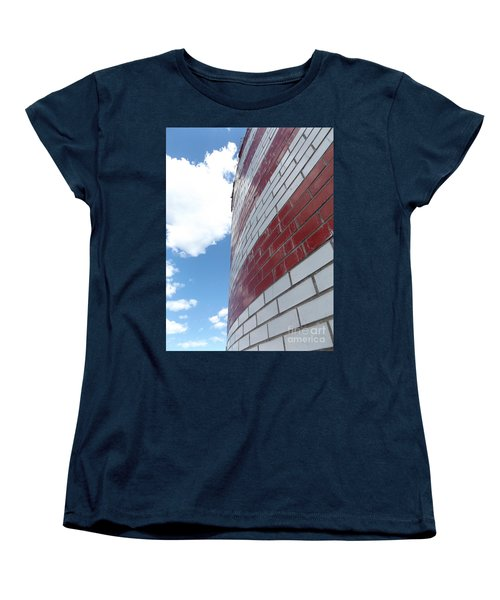Blue Sky Brick Flag Women's T-Shirt (Standard Cut) by Erick Schmidt