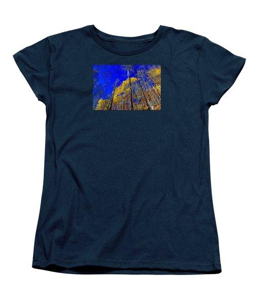 Blue Sky In Fall Women's T-Shirt (Standard Cut) by Paul Mashburn