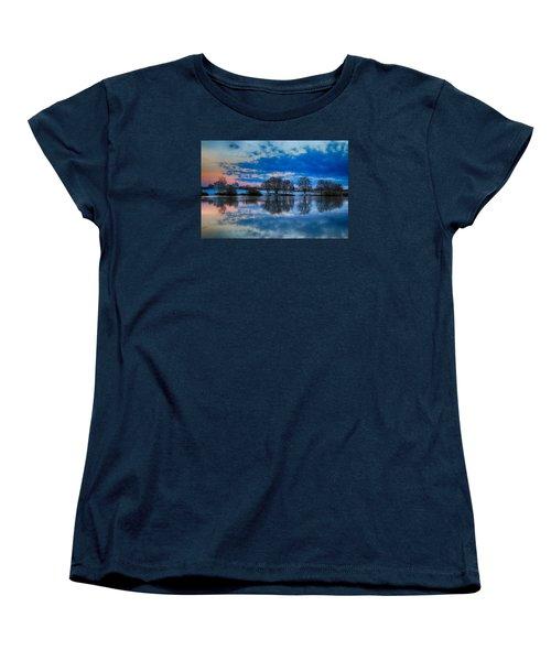 Blue Sky Morning Women's T-Shirt (Standard Cut) by Lynn Hopwood