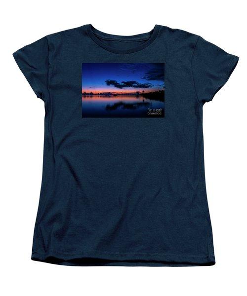 Blue Sky Night Women's T-Shirt (Standard Cut) by Quinn Sedam